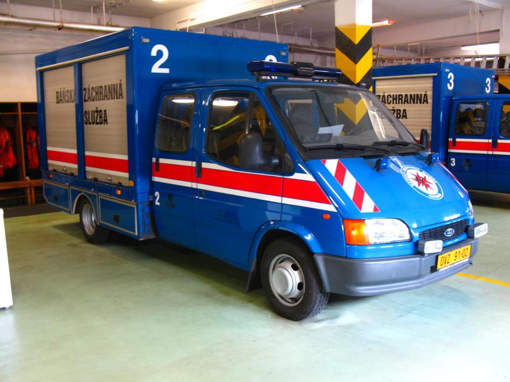 Vozidla na stanici Báňské záchranné služby