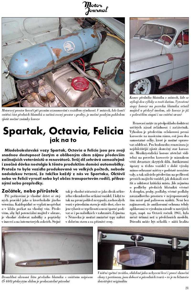 Škoda Spartak, Octavia, Felicia - nákup_1